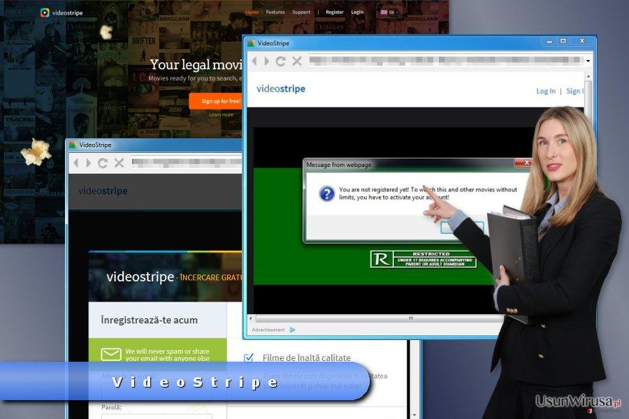 Przykładowa reklama VideoStripe