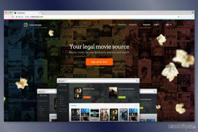 Screenshot strony VideoStripe