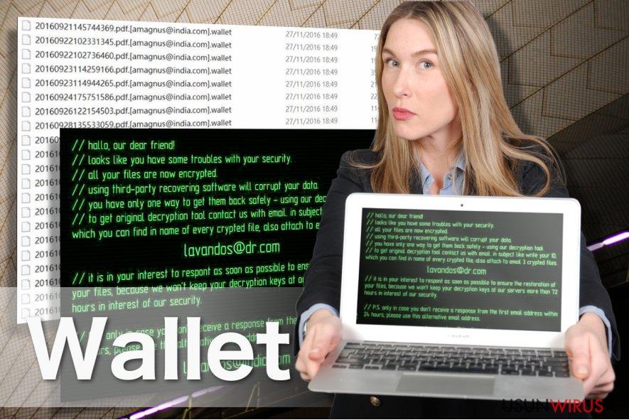 Obraz Wallet ransomware