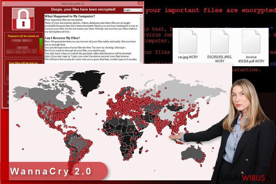 Ilustracja wirusa WannaCry2.0