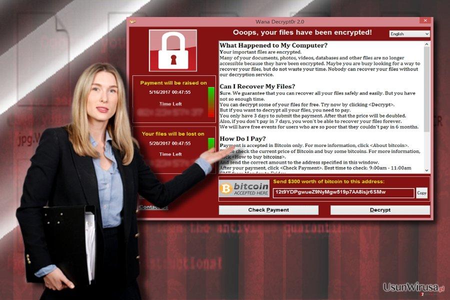 Notka oprogramowania WannaCry 3.0 oraz WannaCry