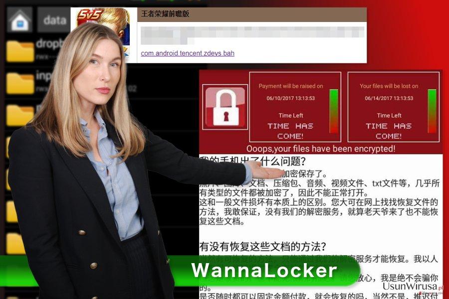 Obraz wirusa WannaLocker