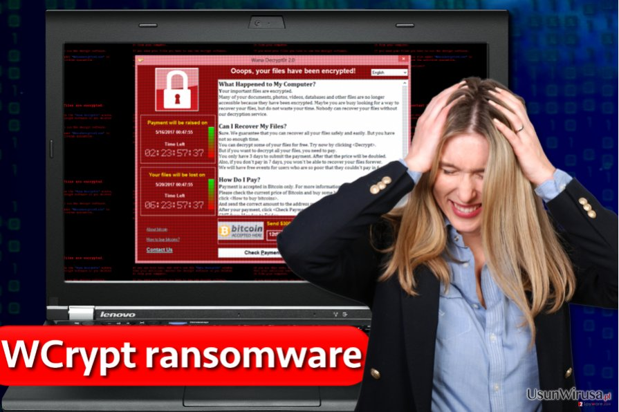 Wirus ransomware WCrypt