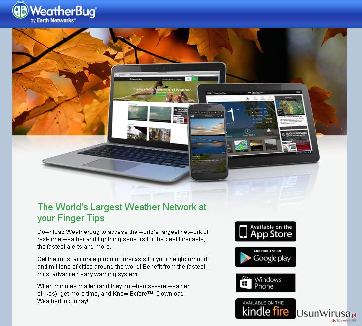 Reklamy od Weather Bug snapshot