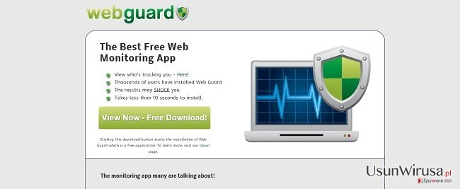 Wirus Web Guard snapshot