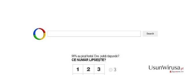 Wirus Websearch.searchfix.info snapshot