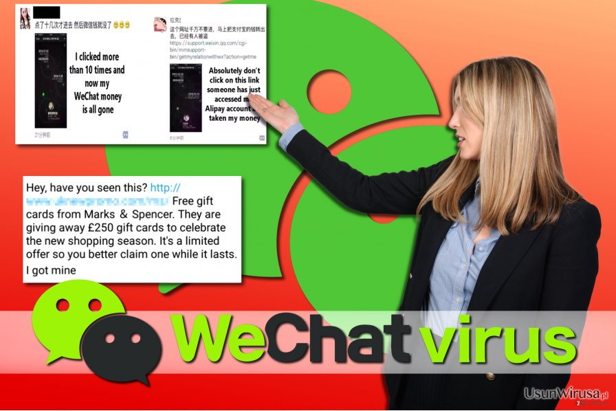 Przykłady wirusa WeChat