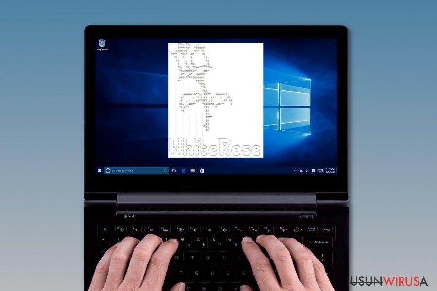 Wirus ransomware WhiteRose zostawia żądanie okupu