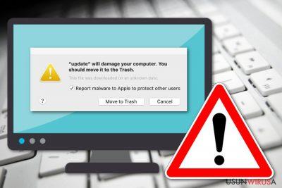 Komunikat Spowoduje uszkodzenie komputera. Powinieneś przenieść go do Kosza.