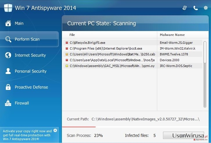 Win 7 Antispyware 2014 snapshot