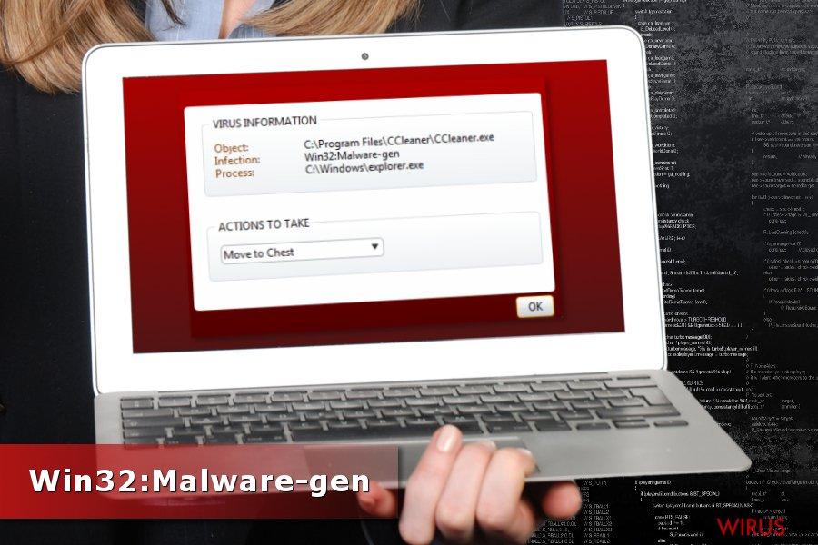Wykrycie Win32:Malware-gen