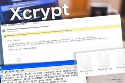 Wirus Xcrypt pozostawia notke na komputerze ofiary