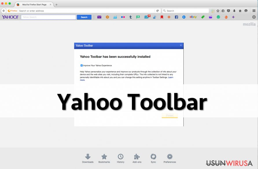 Yahoo Toolbar on Firefox
