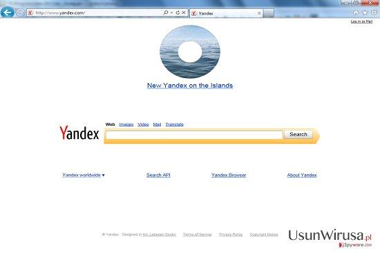 Przekierowania Yandex Toolbar redirect snapshot