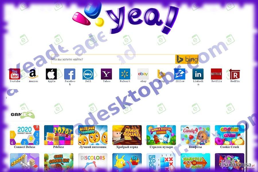 The image of Yeadesktopbr.com hijacker