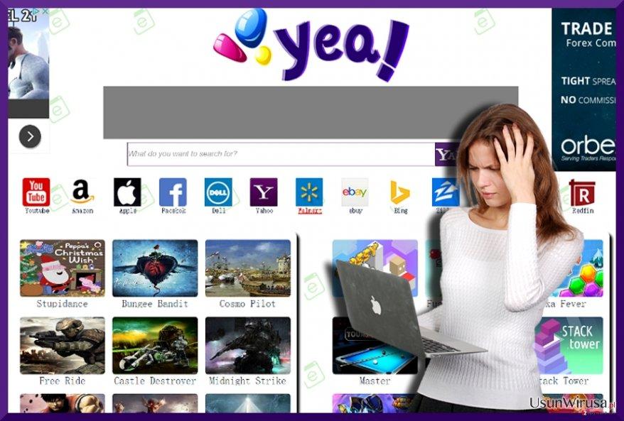 Obraz wirusa YeaDesktop.com