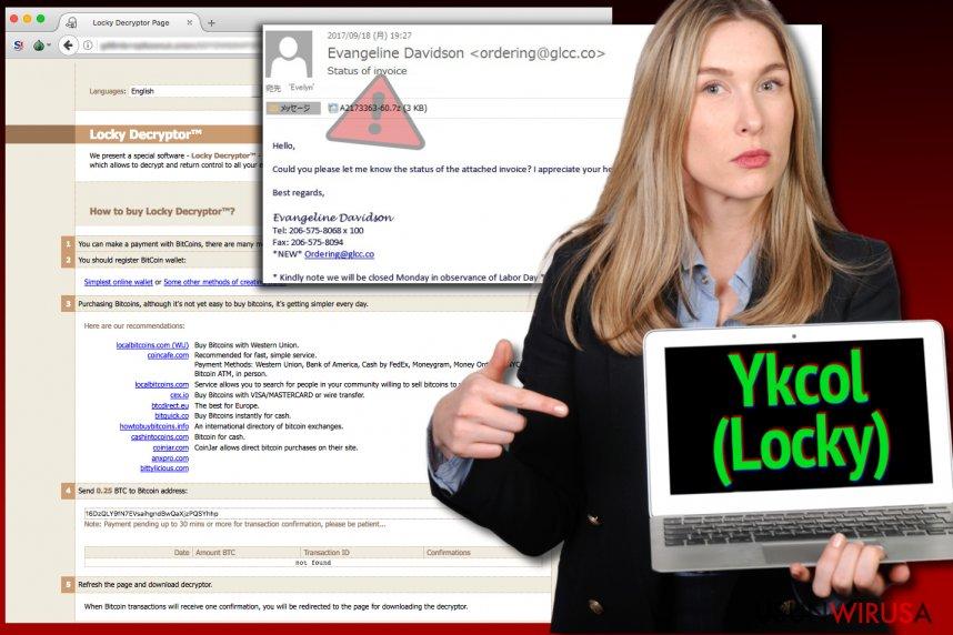 Wirus Locky nazywa się teraz Ykcol