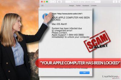 """Wirus """"YOUR APPLE COMPUTER HAS BEEN LOCKED"""""""