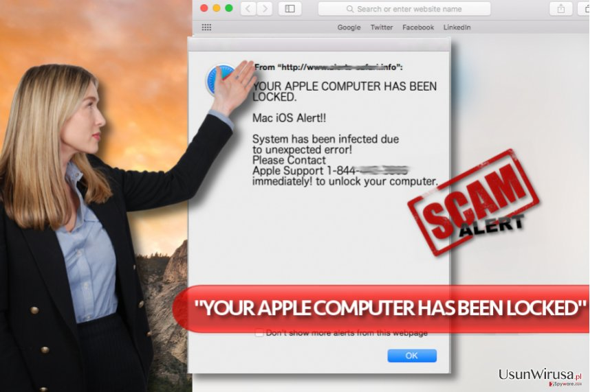 "Wirus ""YOUR APPLE COMPUTER HAS BEEN LOCKED"""