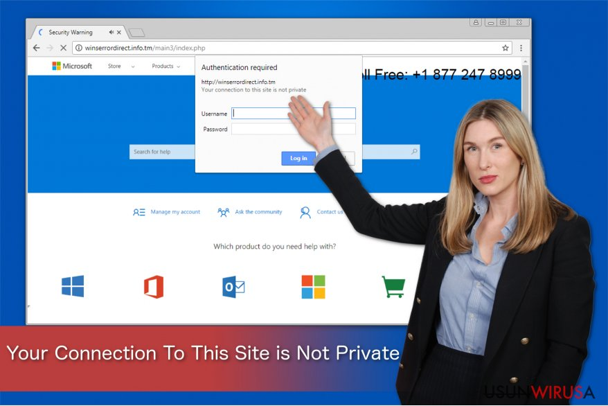 """Oszustwo """"Your Connection To This Site is Not Private"""""""