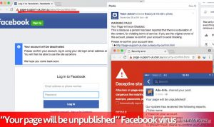 Wirus Facebook Your page will be unpublished