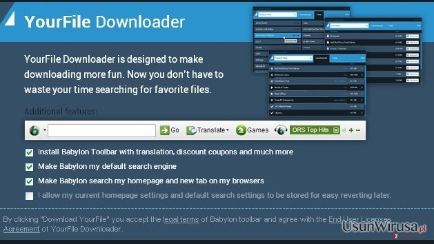 YourFile Downloader snapshot