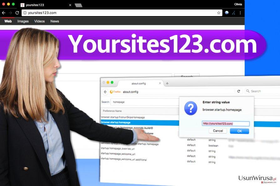 Wirus YourSites123.com snapshot