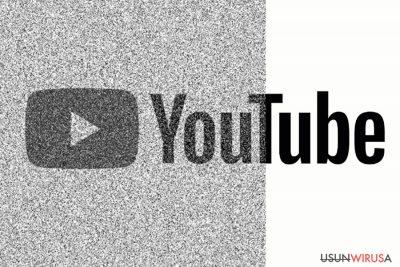 Przedstawienie uszkodzonej strony Youtube