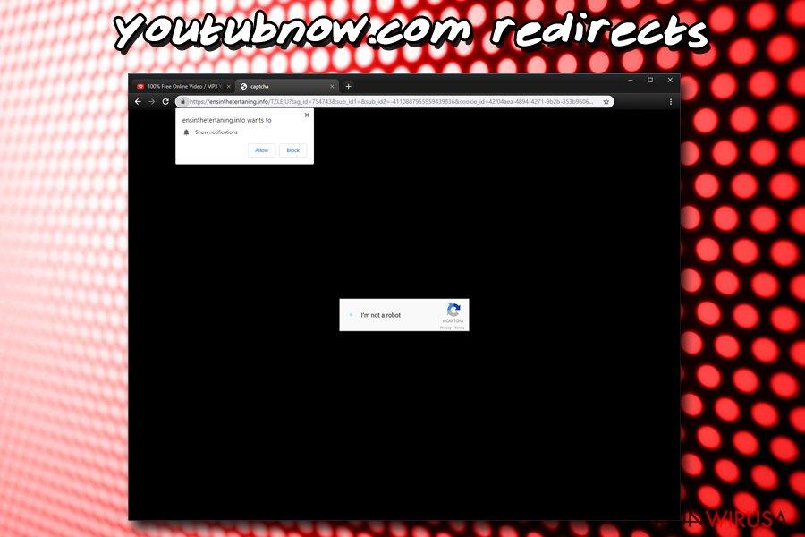 Wirus powiadomień Youtubnow.com