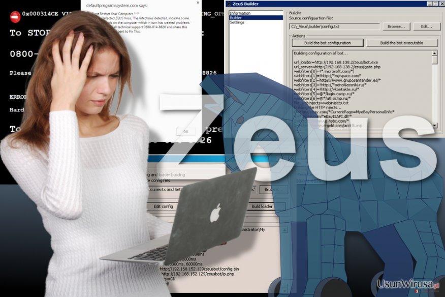 Obraz wirusa Zeus