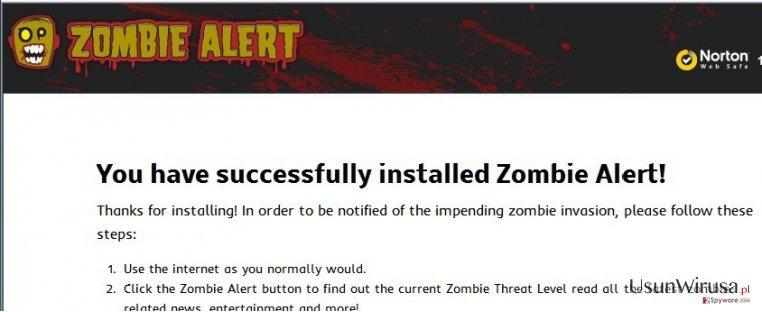 Zombie Alert virus snapshot